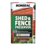 Ronseal Shed and Fence Preserver 5 Litre Autumn Brown