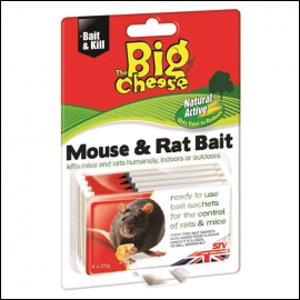 STV The Big Cheese Natural Mouse & Rat Bait 4x25g Sachets 1