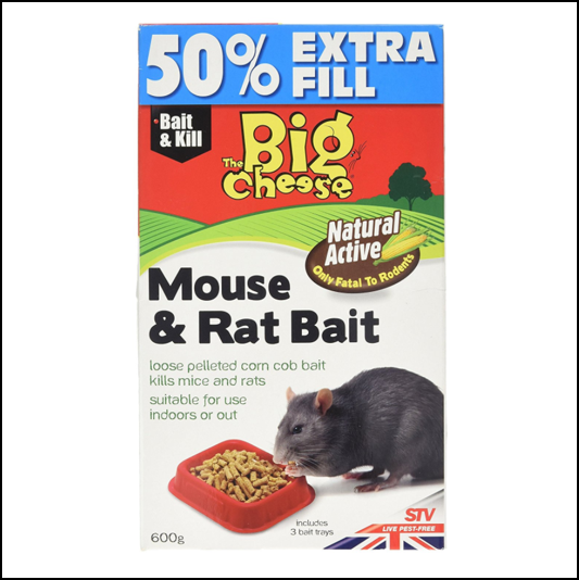 STV The Big Cheese Natural Mouse & Rat Bait 600g 1