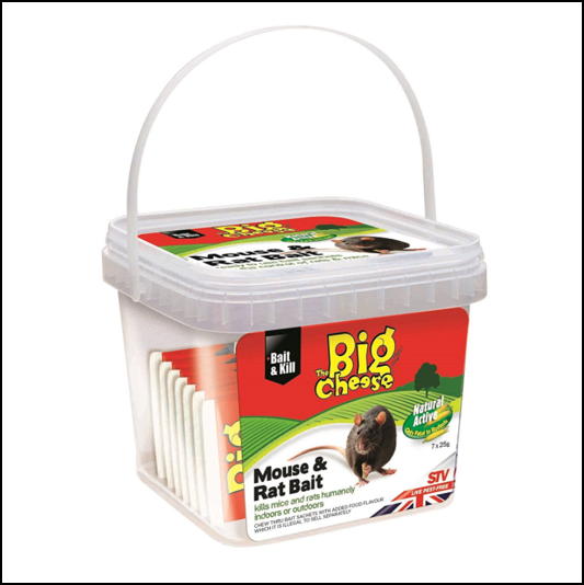 STV The Big Cheese Natural Mouse & Rat Bait 7x25g Sachets 1