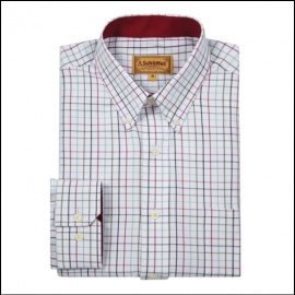 Schoffel Banbury Red-Green Check Shirt