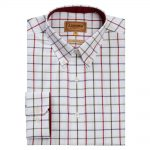 Schoffel Brancaster Red-Navy-Olive Wide Check Shirt 1