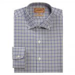 Schoffel Burnsall Navy-Olive Micro Check Shirt 1