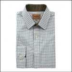 Schoffel Cambridge Dark Olive Check Shirt
