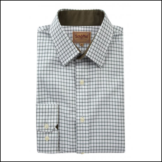 Schoffel Cambridge Dark Olive Check ShirtSchoffel Cambridge Dark Olive Check ShirtSchoffel Cambridge Dark Olive Check Shirt 1