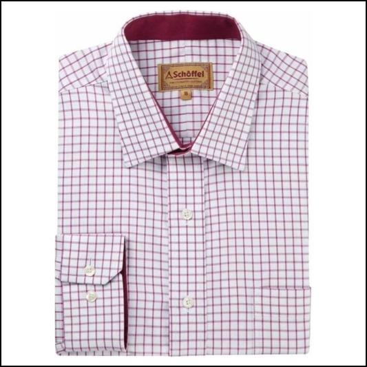 Schoffel Cambridge Raspberry Check Shirt 1