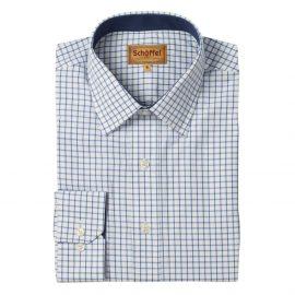 Schoffel Cambridge Royal Navy Check Shirt 1