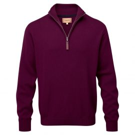 Schoffel Cashmere Cotton Qtr Zip Jumper Fig 1