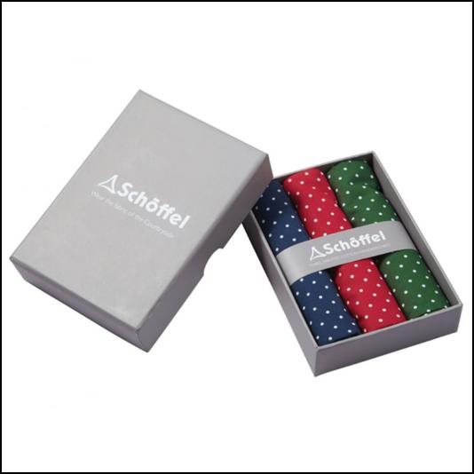 Schoffel Handkerchief Pack of 3 Navy-Red-Green 1