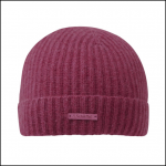 Schoffel Ladies Cashmere Beanie Hat Raspberry