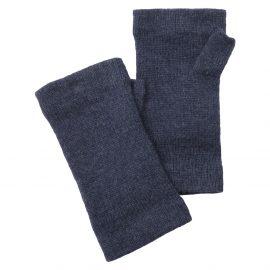 Schoffel Ladies Cashmere Wrist Warmers Indigo 1