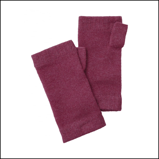 Schoffel Ladies Cashmere Wrist Warmers Raspberry