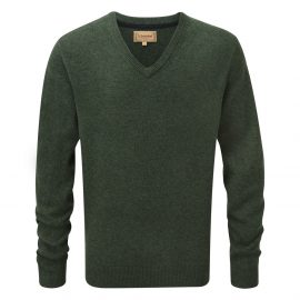 Schoffel Lambswool V Neck Jumper Forest 1