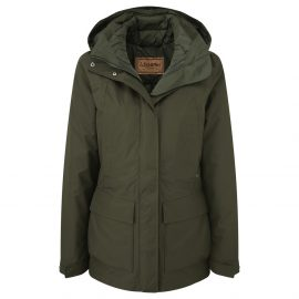 Schoffel Langham Ladies Dark Olive Coat 1