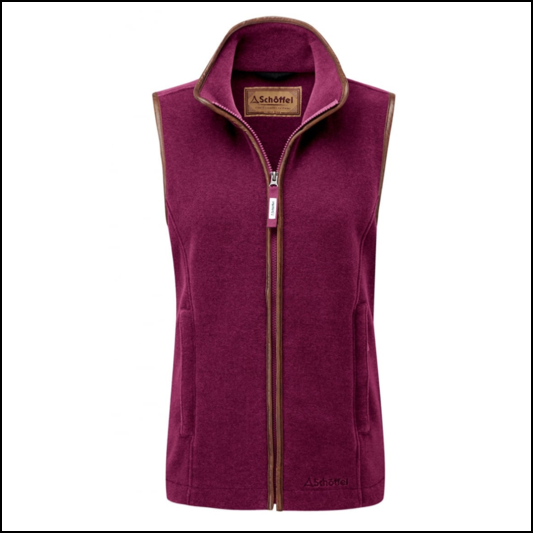 Schoffel Lyndon II Ladies Fleece Gilet Plum 1