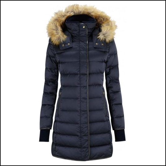Schoffel Mayfair Ladies Navy Down Coat 1