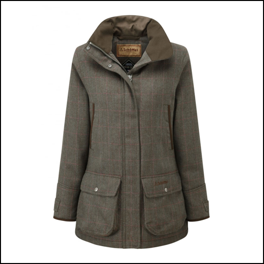 Schoffel Ptarmigan Ladies Cavall Tweed Shooting Coat 1
