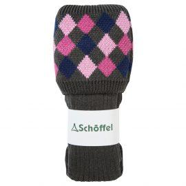 Schoffel Ptarmigan Ladies Socks Forest-Navy-Rose-Pink 1