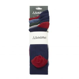 Schoffel Spey Socks (Pack of 5) Navy Mix 1