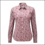Schoffel Suffolk Ladies Fern Burgundy Cotton Shirt