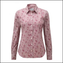 Schoffel Suffolk Fern Burgundy Cotton Shirt 1