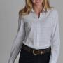 Schoffel Tattersall Ladies Blue Check Cotton Shirt 2
