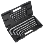 Sealey Jumbo Hex Key Set 10pc Extra-Long Metric
