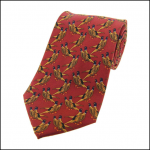 Soprano Country Birds Rust Country Silk Tie