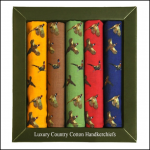 Soprano Country Pheasants Handkerchief Gift Box Set 1