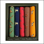 Soprano Country Themed Animals Handkerchief Gift Box Set 1