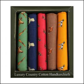 Soprano Country Themed Animals Handkerchief Gift Box Set 1