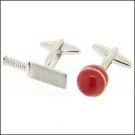 Soprano Cricket Bat and Ball Cufflinks 1