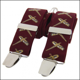 Soprano Flying Pheasants Burgundy Classic Braces 1
