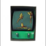 Soprano Forest Green Silk Tie & Cufflink Gift Set