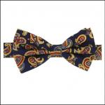 Soprano Luxury Edwardian Navy Paisley Bow Tie