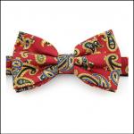 Soprano Luxury Edwardian Red Paisley Bow Tie