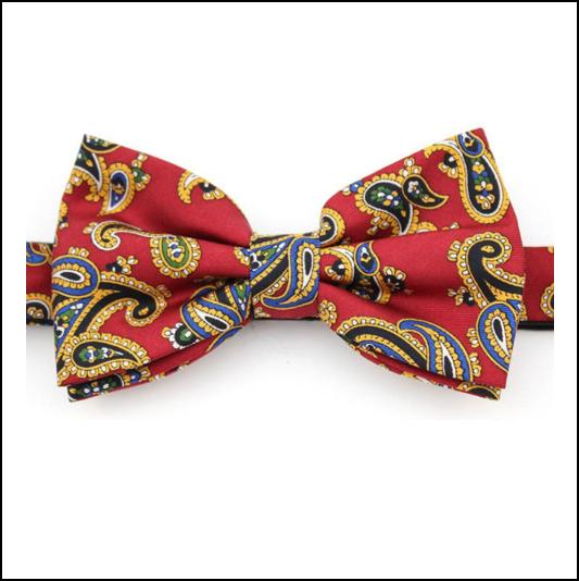 Soprano Luxury Edwardian Paisley Red Bow Tie