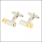Soprano Gold & Silver Gun Cartridge Country Cufflinks