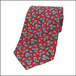 Soprano Vintage Paisley Red Tie