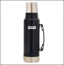 Stanley Classic Stainless Steel 1L Vacuum Flask Navy 1