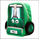 Tractor Ted Dark Green Backpack 1