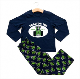 Tractor Ted Long Sleeve Pyjama Set Navy 1