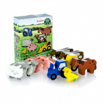 Tractor Ted Wooden Farm Toys 10pc Set