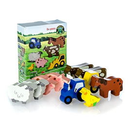 Tractor Ted Wooden Farm Toys 10pc Set 1