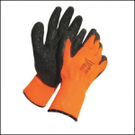 True Touch Therma Orange Gloves with Black Coating