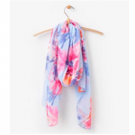 Joules Wensley Scarf Blue Rose