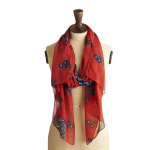 Joules Wensley Scarf Red Peony