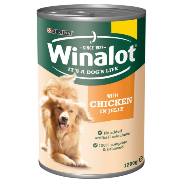 Winalot Adult Dog Chicken in Jelly 1.200g Can