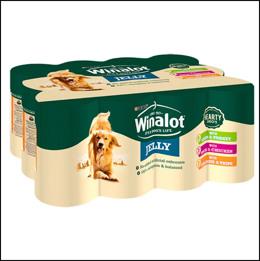 Winalot Adult Dog Classics in Jelly Mixed Case 12 x 400g Cans