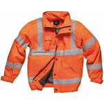Dickies Hi-vis Bomber Jacket Orange